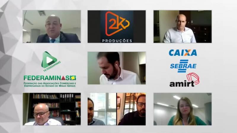 Federaminas, Sebrae, CEF e BDMG participam de live sobre flexibilização de acesso ao crédito para empresários mineiros