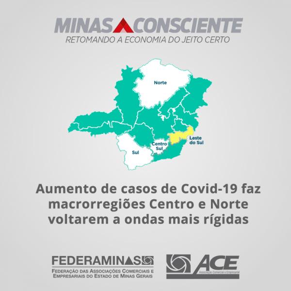 Aumento de casos de Covid-19 faz macrorregiões Centro e Norte voltarem a ondas mais rígidas